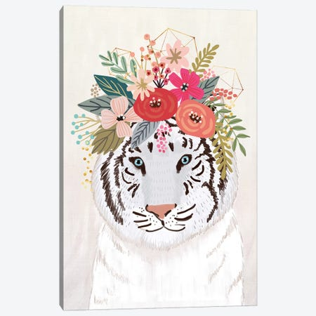 White Tiger Canvas Print #MIO56} by Mia Charro Canvas Print