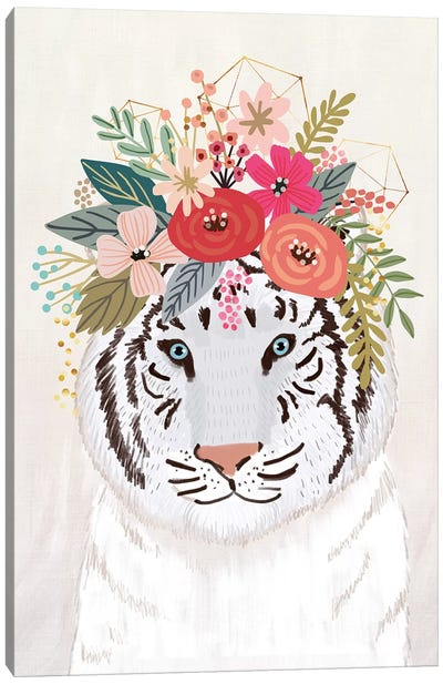 White Tiger Canvas Art Print