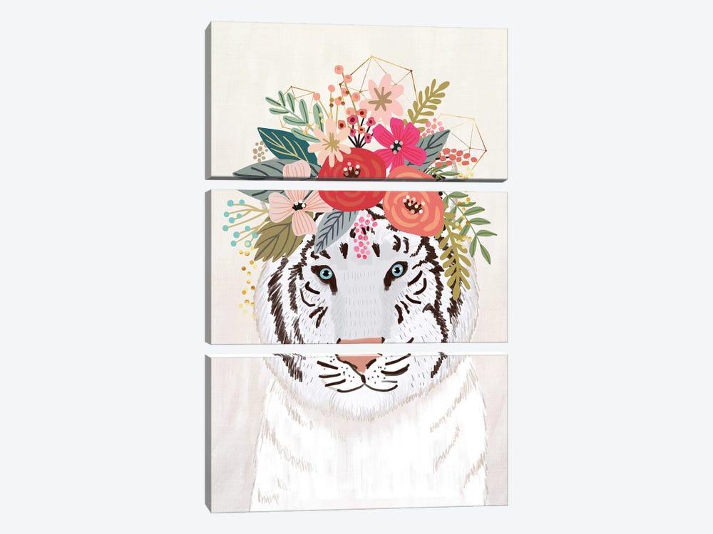 White Tiger by Mia Charro 3-piece Art Print