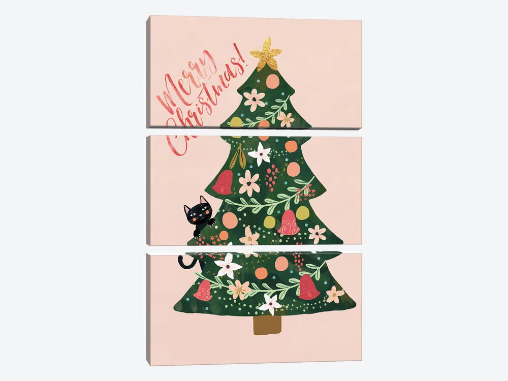 Xmas Pine by Mia Charro 3-piece Canvas Wall Art