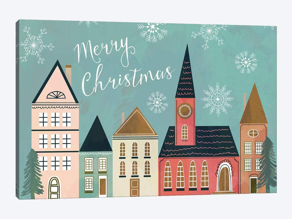 Xmas Village by Mia Charro 1-piece Canvas Art Print