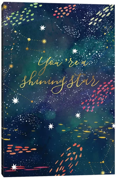 You Are A Shining Star Canvas Art Print