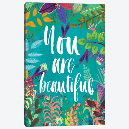 You Are Beautiful Canvas Print #MIO63} by Mia Charro Canvas Art Print
