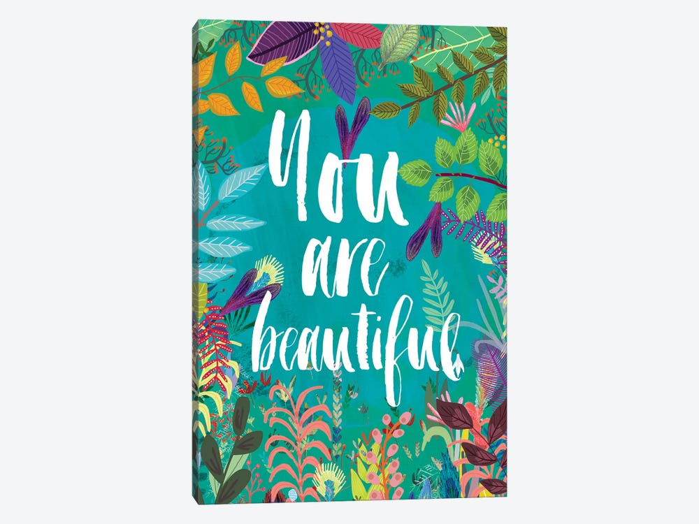 You Are Beautiful by Mia Charro 1-piece Canvas Print