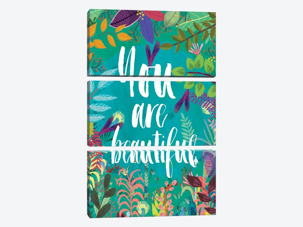 You Are Beautiful by Mia Charro 3-piece Canvas Art Print