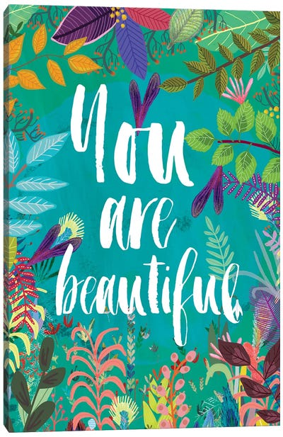 You Are Beautiful Canvas Art Print