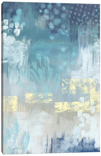 Abstract Blue Canvas Art Print