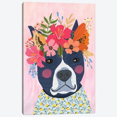 Blue Puppy Canvas Print #MIO67} by Mia Charro Canvas Wall Art