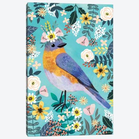 Bluebird Canvas Print #MIO68} by Mia Charro Canvas Print
