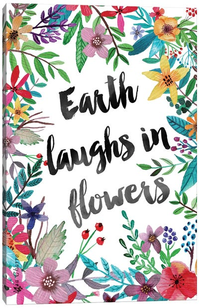 Earth Laughs In Flowers I Canvas Art Print