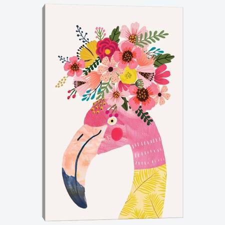 Flamingo Canvas Print #MIO73} by Mia Charro Canvas Art