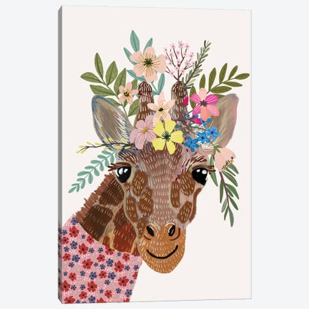 Giraffe Canvas Print #MIO75} by Mia Charro Art Print
