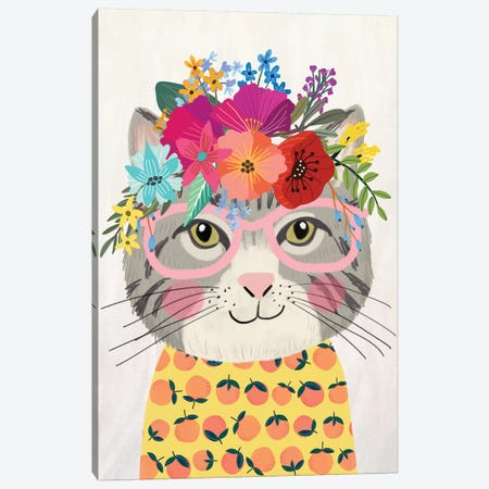Grey Cat II Canvas Print #MIO78} by Mia Charro Canvas Art