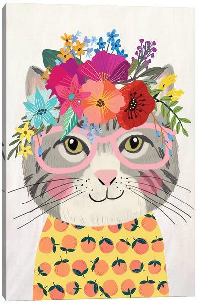 Grey Cat II Canvas Art Print
