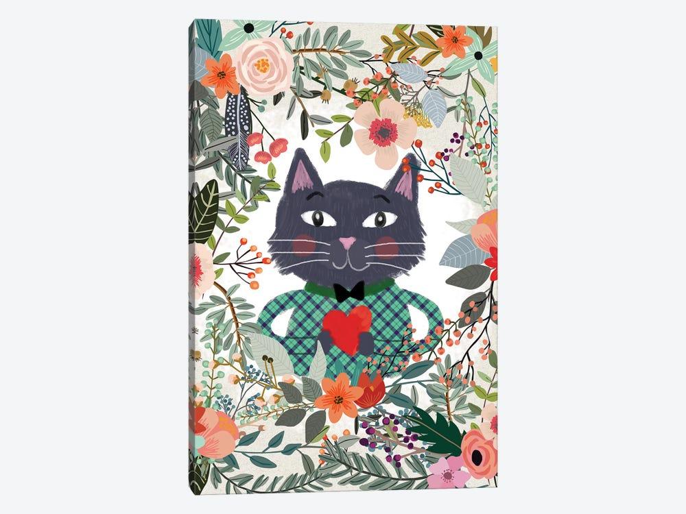 Cat And Heart by Mia Charro 1-piece Canvas Artwork