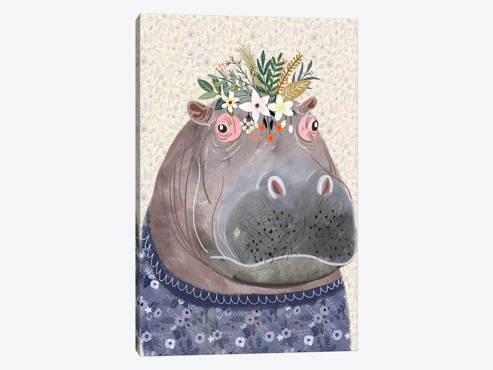 Hippo by Mia Charro 1-piece Canvas Print