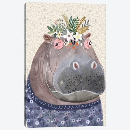 Hippo Canvas Print #MIO81} by Mia Charro Canvas Art Print