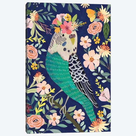 Parakeet Canvas Print #MIO87} by Mia Charro Canvas Artwork