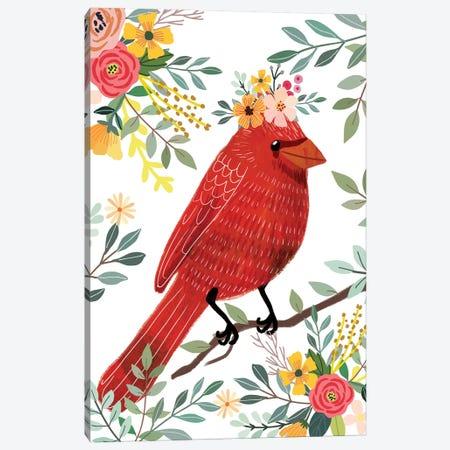 Red Bird Canvas Print #MIO88} by Mia Charro Canvas Print