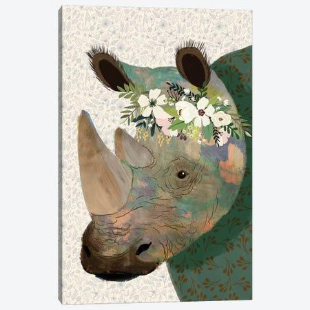 Rhino Canvas Print #MIO89} by Mia Charro Canvas Print
