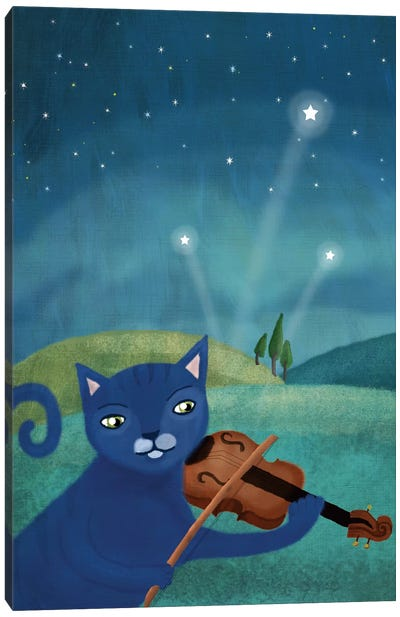 Cat And Violin Canvas Art Print