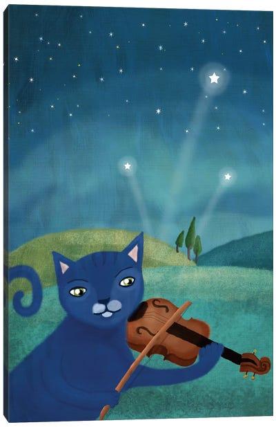 Cat And Violin Canvas Art Print