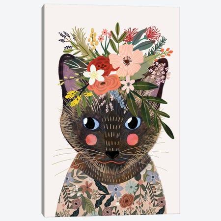 Siamese Canvas Print #MIO91} by Mia Charro Canvas Artwork