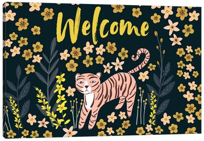 Tiger Welcome Canvas Art Print
