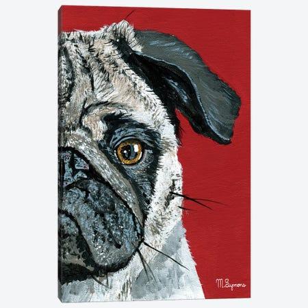 Pug a Boo Canvas Print #MIY5} by Melissa Symons Canvas Artwork