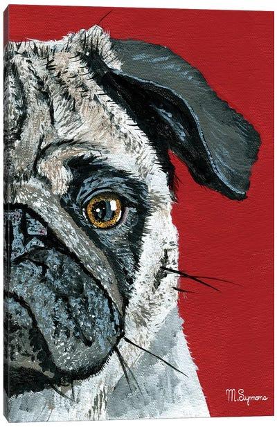 Pug a Boo Canvas Art Print