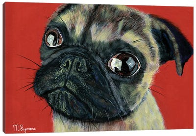 Pugly Canvas Art Print