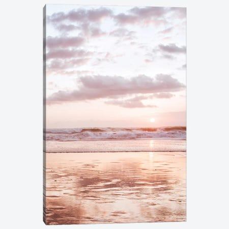 Pink Beach Canvas Print #MIZ197} by Magda Izzard Canvas Wall Art