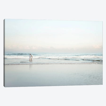 Surfing In Bali Canvas Print #MIZ202} by Magda Izzard Canvas Print