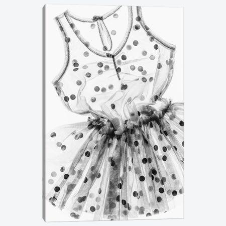Spotty Dress Canvas Print #MIZ203} by Magda Izzard Art Print