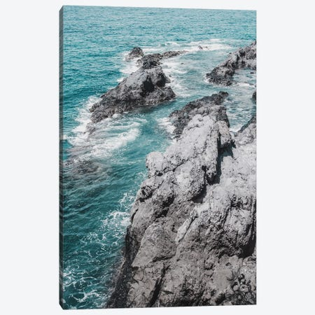 Rocky Coast II Canvas Print #MIZ205} by Magda Izzard Canvas Wall Art