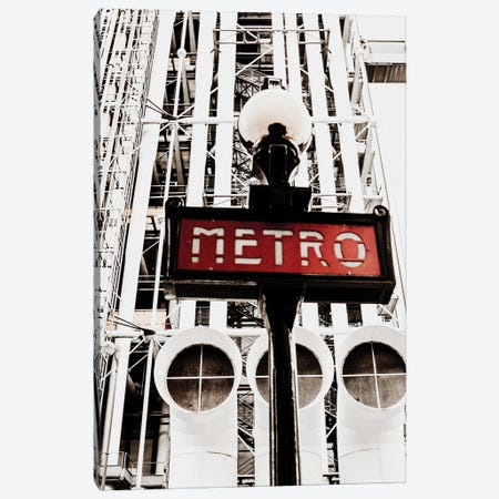 Metro Center Pompidou Canvas Print #MIZ55} by Magda Izzard Canvas Art