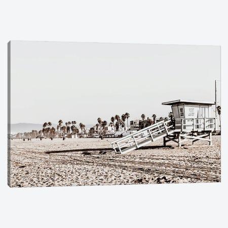 Santa Monica Beach Canvas Print #MIZ78} by Magda Izzard Canvas Art Print