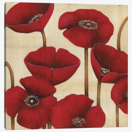 Bouquet Rouge Canvas Print #MJA10} by MAJA Canvas Art