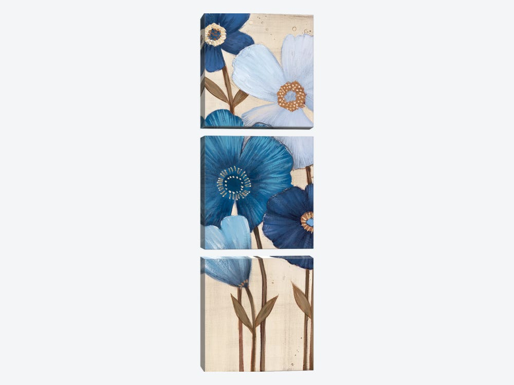 Fleurs Bleues I by MAJA 3-piece Canvas Wall Art