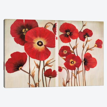 Red Ladies Canvas Print #MJA37} by MAJA Art Print