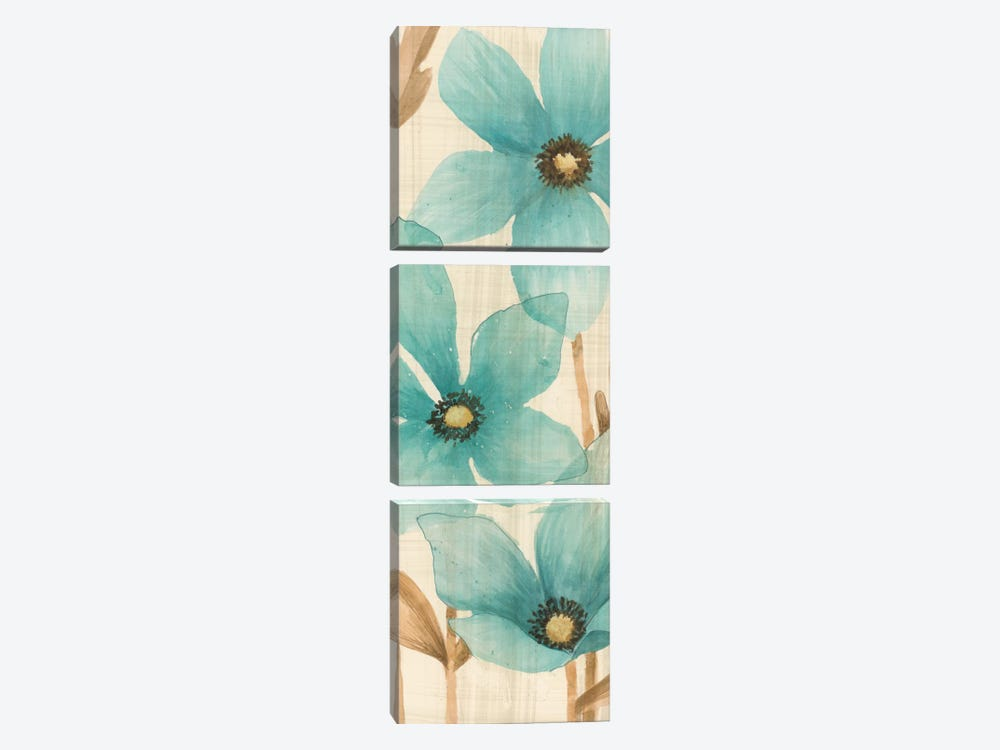 Waterflowers I by MAJA 3-piece Canvas Print