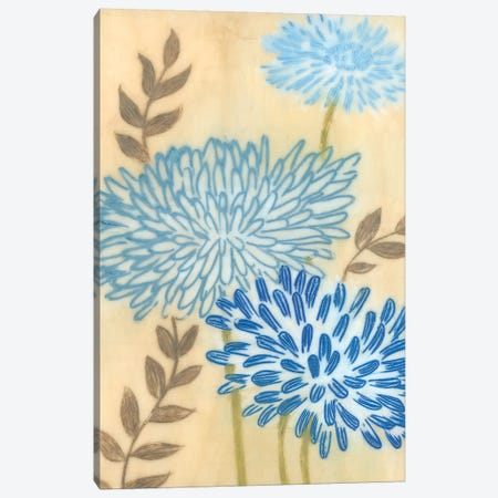 Blue Blooms I Canvas Print #MJA51} by MAJA Canvas Artwork