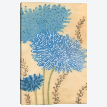 Blue Blooms II Canvas Print #MJA52} by MAJA Canvas Art