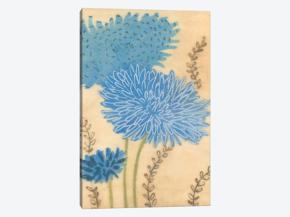 Blue Blooms II by MAJA 1-piece Canvas Wall Art