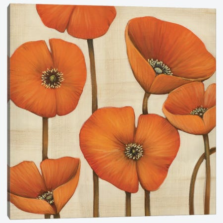 Bouquet Orange Canvas Print #MJA9} by MAJA Art Print