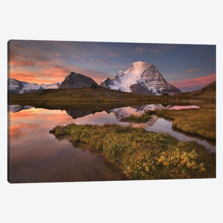 Canada, British Columbia. Sunrise over Mount Robson Canvas Print #MJC101} by Alan Majchrowicz Canvas Art Print