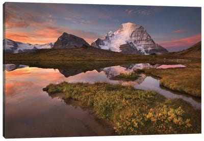 Canada, British Columbia. Sunrise over Mount Robson Canvas Art Print