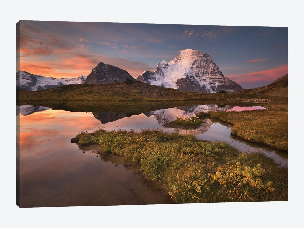 Canada, British Columbia. Sunrise over Mount Robson by Alan Majchrowicz 1-piece Canvas Art Print