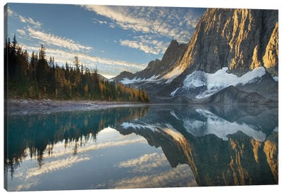 Canada, British Columbia. Sunrise on The Rockwall and Floe Lake, Kootenay National Park. Canvas Art Print