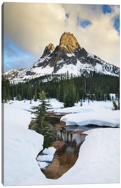 USA, Washington State. Liberty Bell Mountain, Washington Pass, North Cascades. Canvas Art Print